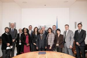Photo de groupe au siège de la FAO après une réunion de travail sur le PRESAN pour la sécurité alimentaire - (c) FAO, novembre 2018