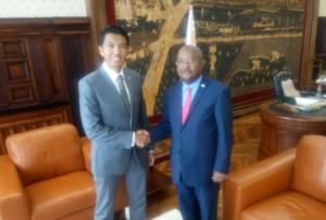 Andry Rajoelina et Hamada Madi