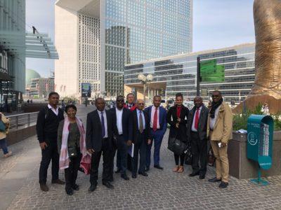 Les membres du Réseau des régulateurs de l'océan Indien lors de leur passage à la Commission de Régulation de l'Energie (CRE) à Paris