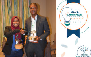 blue champion award eco actions